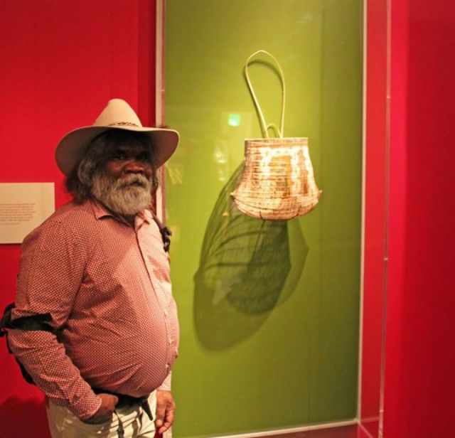 Abe Muriata is a Girramay man of the Cardwell Range area Girramay Traditional Owner, Painter, Potter, Weaver and Shield Maker